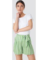 Trendyol Binding Detailed Shorts Green