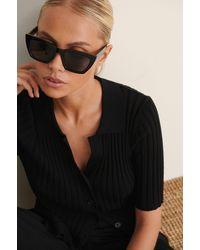 NA-KD Basic Vierkante Zonnebril - Zwart
