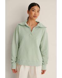 Mango Pullover Mit Hohem Kragen - Grün