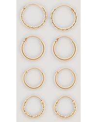 NA-KD Accessories Mini Hoop Earring Set - Mettallic