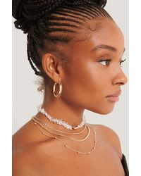 NA-KD Accessories Multilayered Shell Detail Necklace - Mettallic