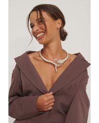 NA-KD Accessories Choker-Halskette - Mettallic