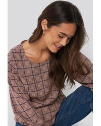 NA-KD - Marked Waist Blouse - Lyst
