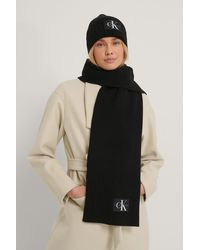Calvin Klein Beanie Scarf Set - Zwart