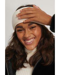 NA-KD Offwhite Fleece Headband - Multicolor
