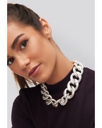 NA-KD Chunky Chain Necklace - Metallic