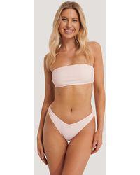 NA-KD Swimwear Bikinibroekje In V-vorm - Roze