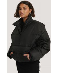 NA-KD Black Anorak Padded Jacket