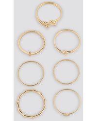 NA-KD Fine Stacking Rings (7-pack) - Metallic
