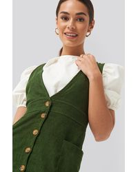 Trendyol Buttoned Gilet Mini Dress - Groen
