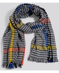 NA-KD Colorful Dogtooth Scarf - Blauw