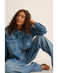 Calvin Klein Blue Ck Overshirt