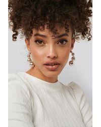 NA-KD Round Drops Earrings - Metallic