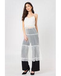 Glamorous White Ruffle Detail Strap Dress