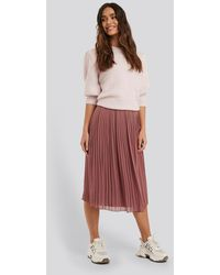 NA-KD Pleated Midi Skirt - Roze