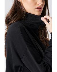 NA-KD Trend Turtle Neck Long Sweater - Schwarz