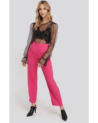 NA-KD Elastic Waist Pleated Pants - Rose