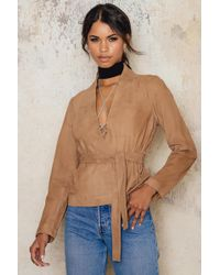 Just Female - Wire Suede Jacket - Lyst