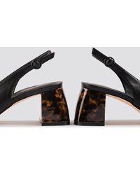 NA-KD Tortoise Heel Slingback Pumps - Zwart