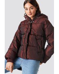 NA-KD Shiny Padded Jacket - Bruin