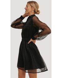 NA-KD Organza Pocket Dress - Noir