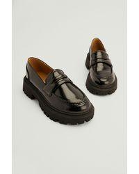 NA-KD Shoes Chunky Retro Loafers - Zwart