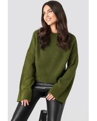 NA-KD - Wide Sleeve Round Neck Knitted Sweater - Lyst