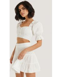 Trendyol Ruffle Detail Top And Bottom Set - Wit