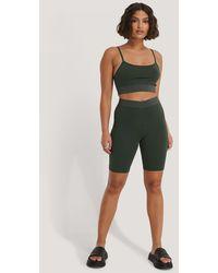 NA-KD Green Organic Slim Short Tights