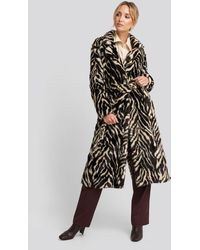Mango Duquesa Coat White - Black