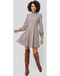 Trendyol Multi Colored Patterned Mini Dress - Grau