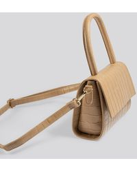 NA-KD Accessories Mini Top Handle Flap Bag - Natur