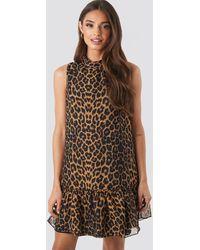 Trendyol Leopard Print Mini Dress - Bruin