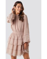 NA-KD Embroidery Mini Dress - Rose