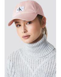 Calvin Klein - J Monogram Cap W Peachy Keen - Lyst