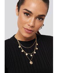 NA-KD Coins Necklace - Metallic