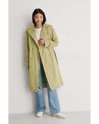 Trendyol Green Carmen Trench Coat
