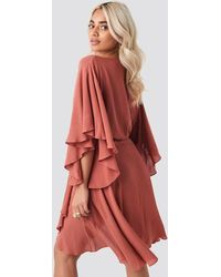 Trendyol Red Ribbon Lace Detailed Dress
