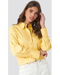 NA-KD Oversized Shirt - Geel