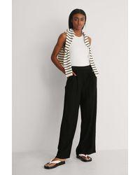 Mango Black Flowy Trousers