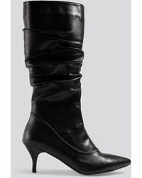 Trendyol Black Slouchy High Boots