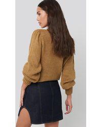 NA-KD Waist Dart Detail Denim Mini Skirt - Blau