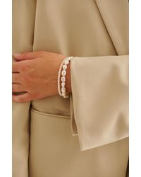 NA-KD Accessories Double Pack Pearl Bracelet - Wit