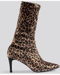 Trendyol Multicolor Leopard Patterned Boots - Brown