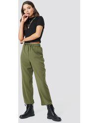 NA-KD Drawstring Suit Pants - Groen