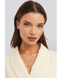 NA-KD Anette Hovland Pedant Necklace - Metallic