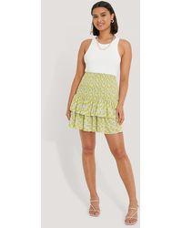 Trendyol Multicolour Pleated Detail Mini Skirt - Green