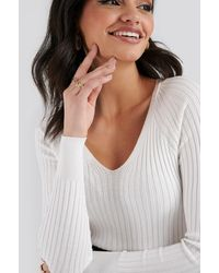 Mango Goleta Sweater White - Multicolor