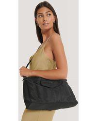NA-KD Black Puffed Nylon Clutch Bag