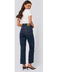 Levi's Rechte High Waist Jeans - Blauw